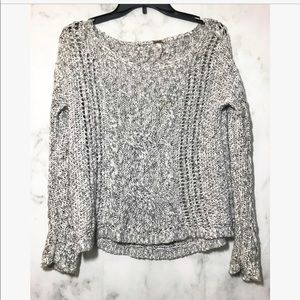 FREE PEOPLE • grey crew sweater